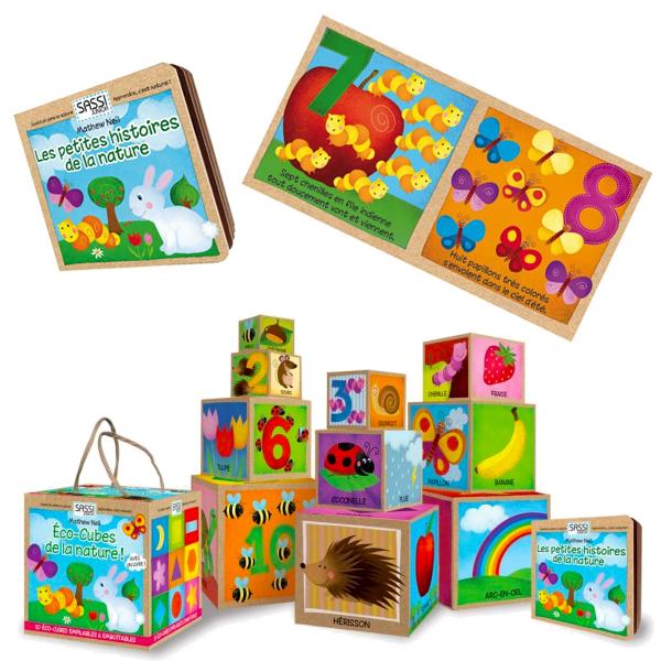 Eco-cubes + Livre La nature