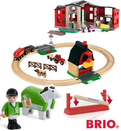 Ferme et petits trains Brio