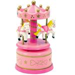 Boîte à musique Carrousel rose