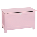 Coffre à jouets rose Mademoiselle