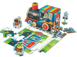 Train puzzle et jeu
