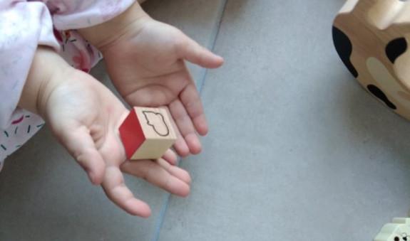 dé du jeu de mémoire mémotager