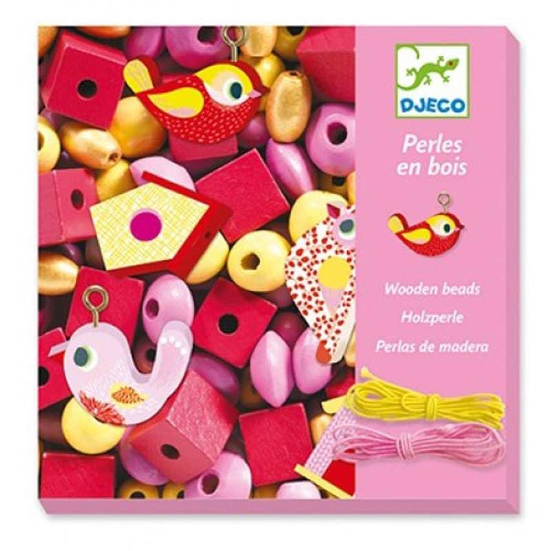 Perles en bois oiseaux Djeco